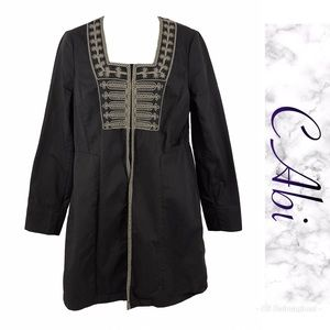 Embroidered long coat